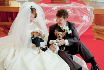 チャペル ザ・シアター サルヴェ/チャペルザシアターサルヴェ:写真18:愛犬との結婚式も♪