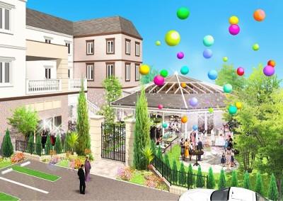 Felicia court/フェリシアコート:写真2:ガーデンが広くなり、南仏の別荘地を思わせる緑溢れる空間へリニューアル!